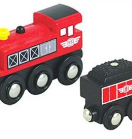 Li'l Chugs Red Steam Locomotive & Coal Tender