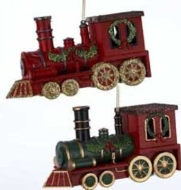 Red or Green Train Ornament
