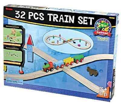 Wooden Figure 8 Train Set 32 pieces