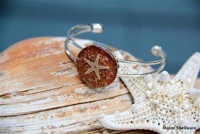 Starfish Adjustable Bracelet - Silver Cuff