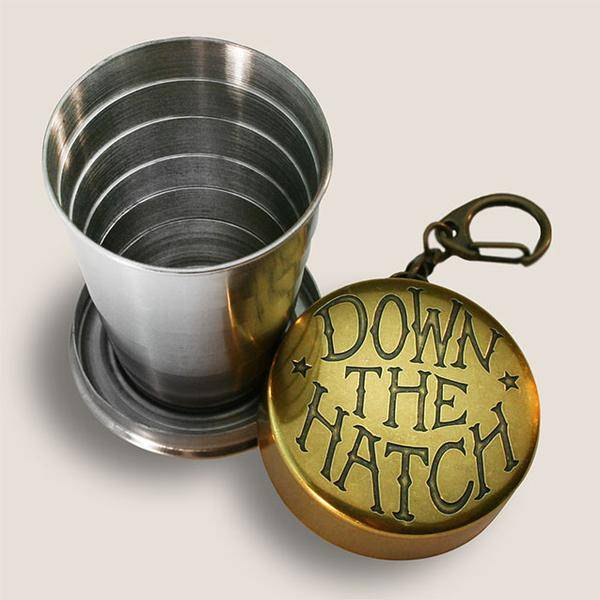 Down the Hatch Shot Glass
