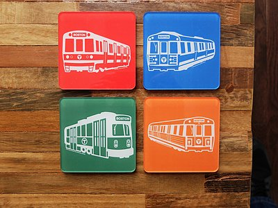 MBTA Coaster Set