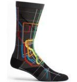MTA Subway Vignelli Diagram Mens Sock