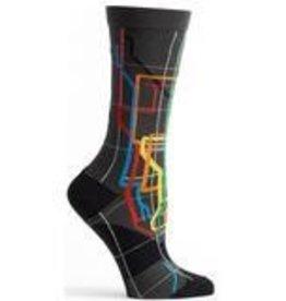 MTA Subway Vignelli Diagram Womens Sock