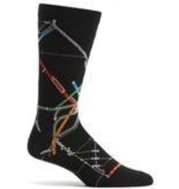 "Boston MBTA ""The T"" Subway Map Sock"