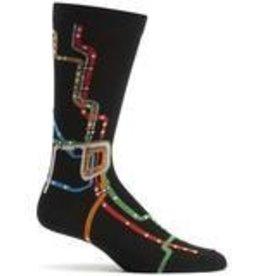 Chicago CTA L Map Sock