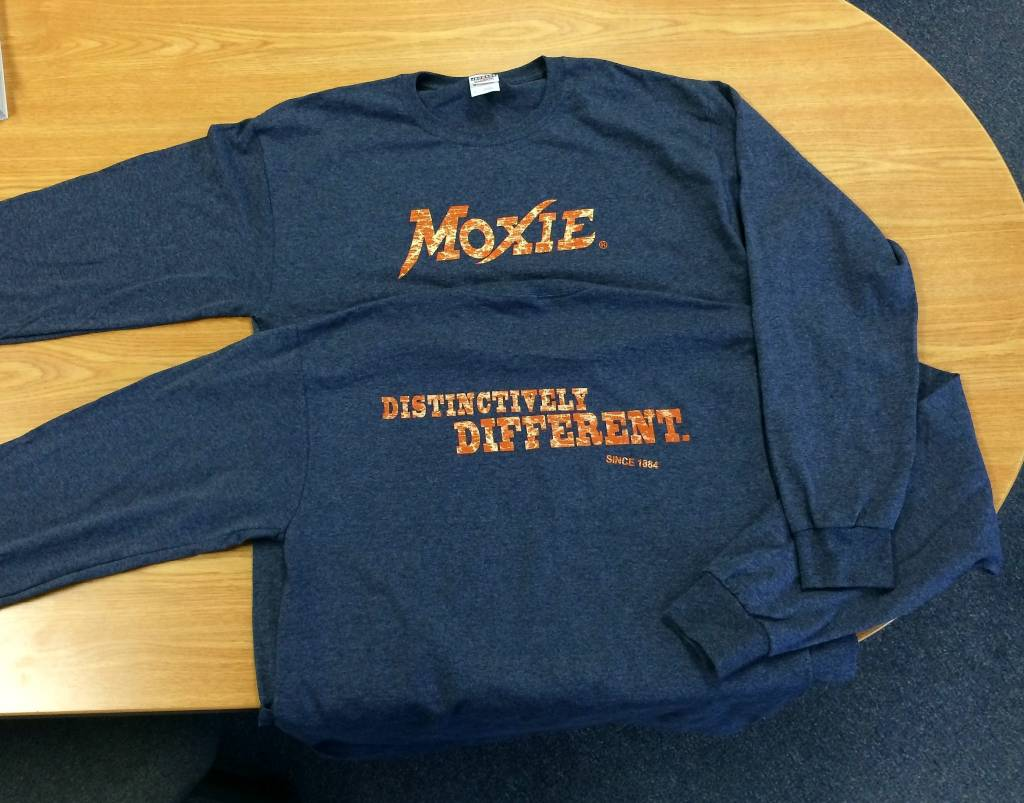 Moxie Long Sleeve Heather Navy Tee