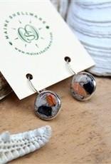 Maine Shellware Lever Back Earrings