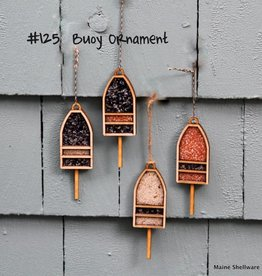 Maine Shellware Buoy Ornament STM Customized