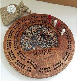 Maine Shellware Cribbage Board
