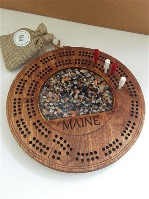 Maine Shellware Cribbage Board