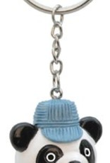 Panda Engineer Bobble Head Keychain