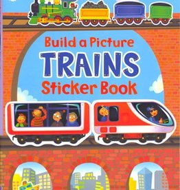 Build A Picture Trains Sticker Book