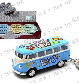 VW Peace and Love Bus Keychain