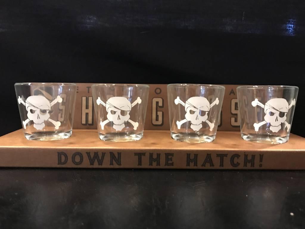 Pirates - Set of 4 Shot Glasses