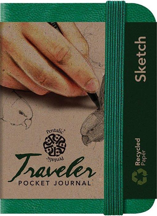 PENTALIC TRAVELER POCKET JOURNAL SKETCH 3x4 GREEN