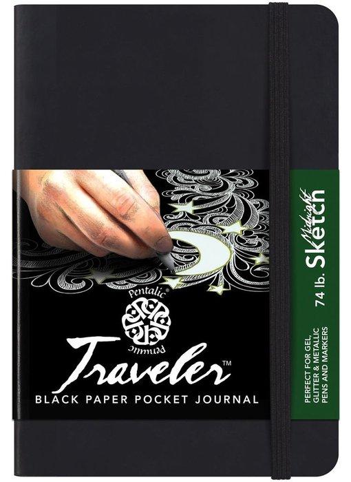 PENTALIC TRAVELER BLACK PAPER POCKET JOURNAL 4x6