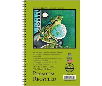 BEE PAPER PREMIUM RECYCLED SKETCHBOOK 8.5X5.5