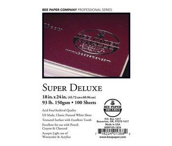 BEE PAPER SUPER DELUXE PAPER 18x24 INDIVIDUAL SHEET 93LB