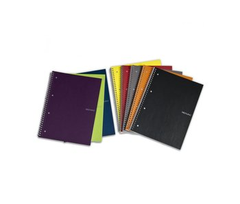 FABRIANO ECOQUA NOTEBOOK SP 6x8 GRID A5 BLACK