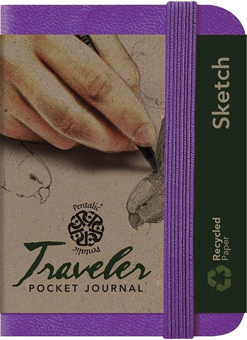 PENTALIC TRAVELER POCKET JOURNAL 3x4 PURPLE