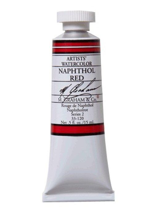 M. GRAHAM WATERCOLOUR 15ML NAPHTHOL RED