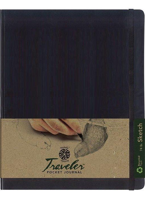 PENTALIC TRAVELER POCKET JOURNAL 8x10 SC BLACK