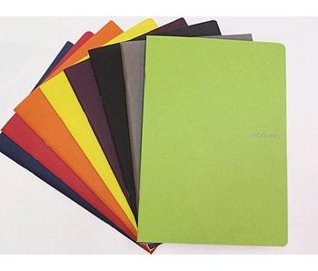 FABRIANO ECOQUA NOTEBOOK STAPLED 8.5x11.5 BLANK A4 STONE GREY