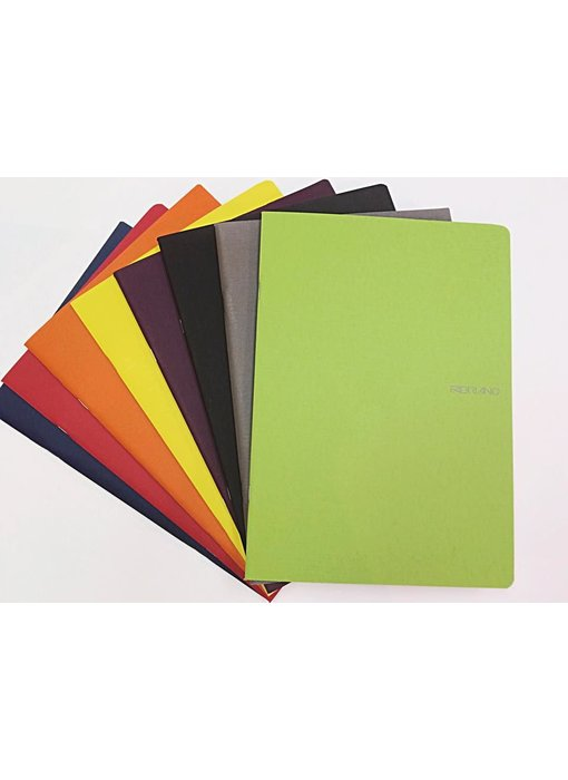 FABRIANO ECOQUA NOTEBOOK STAPLED 8.5x11.5 GRID A4 LIME GREEN