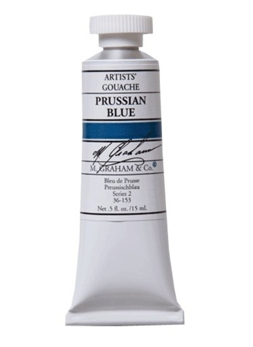 M. GRAHAM ARTISTS' GOUACHE 15ML PRUSSIAN BLUE