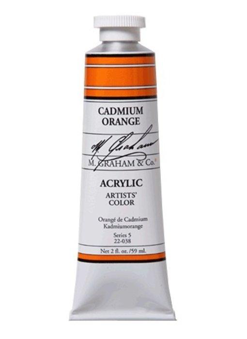 M Graham Artists Acrylic 2oz Cadmium Orange