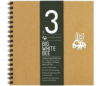 BEE PAPER BIG WHITE BEE CHARCOAL PAD WB 9x9
