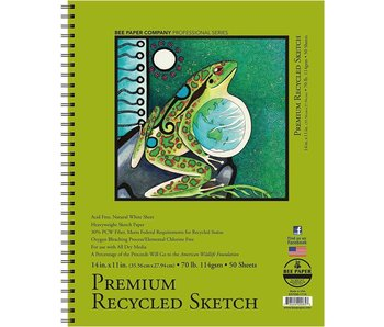 BEE PAPER PREMIUM RECYCLED SKETCHBOOK 11x14