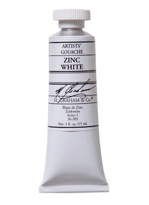 M. GRAHAM ARTISTS' GOUACHE 15ML ZINC WHITE
