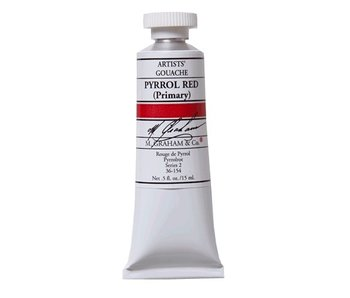 M. GRAHAM M. GRAHAM ARTISTS' GOUACHE 15ML PYRROL RED (PRIMARY)