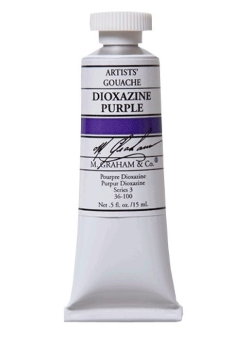 M. GRAHAM ARTISTS' GOUACHE 15ML DIOXAZINE PURPLE