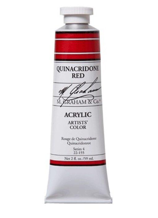 M. GRAHAM ARTISTS ACRYLIC 2OZ QUINACRIDONE RED