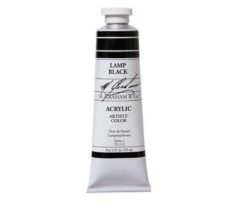 M. GRAHAM M. GRAHAM ARTISTS ACRYLIC 2OZ LAMP BLACK