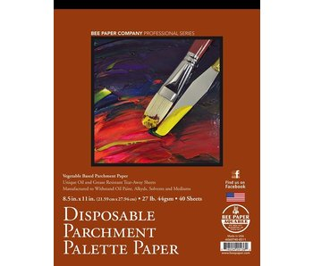 BEE PAPER DISPOSABLE PARCHMENT PALETTE PAPER 8.5x11 40PK