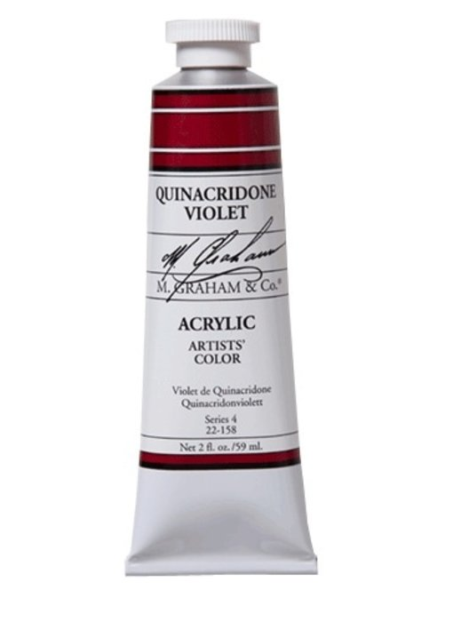 M. GRAHAM ARTISTS ACRYLIC 2OZ QUINACRIDONE VIOLET