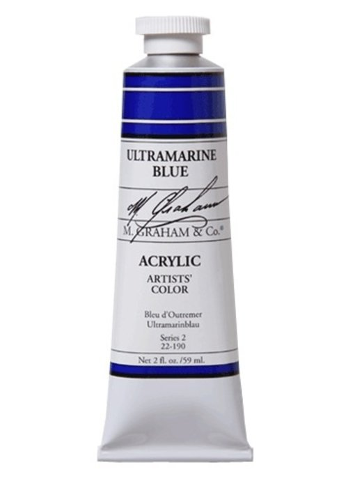 M. GRAHAM ARTISTS ACRYLIC 2OZ ULTRAMARINE BLUE