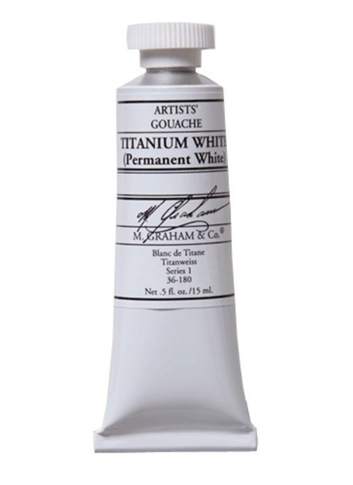 M. GRAHAM ARTISTS' GOUACHE 15ML TITANIUM WHITE (PERMANENT)