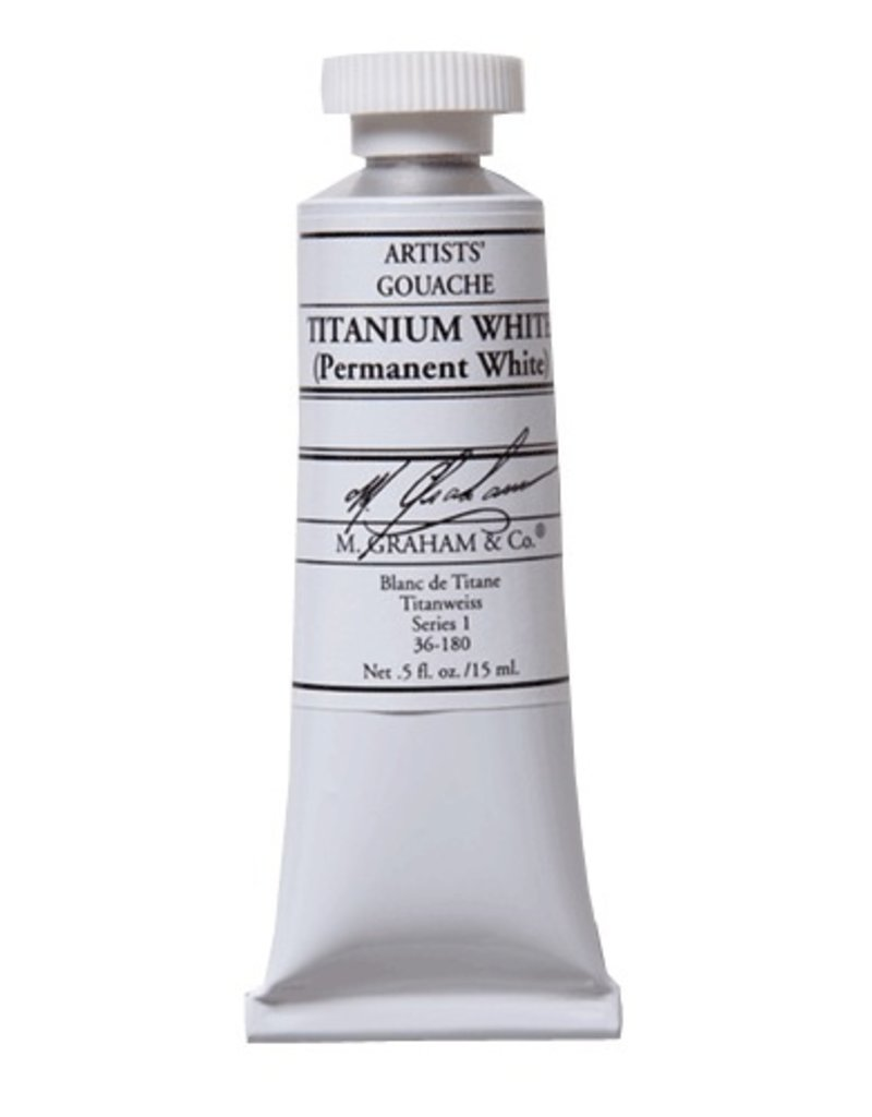 ART M. GRAHAM ARTISTS' GOUACHE 15ML TITANIUM WHITE (PERMANENT)