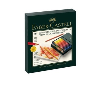FABER CASTELL FABER CASTELL POLYCHROMOS COLORED PENCIL SET 36PK BOX