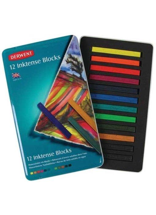 DERWENT INKTENSE BLOCKS 12 SET