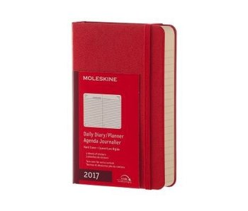 MOLESKINE MOLESKINE LARGE HC DAILY DAIRY PLANNER 2017 RED