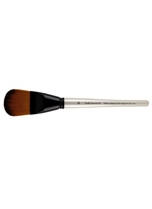 SIMPLY SIMMONS XL SYNTHETIC STIFF BRUSH FILBERT 40