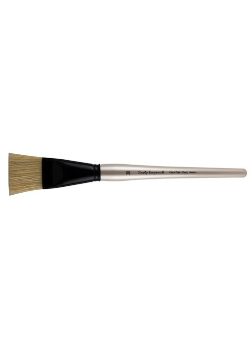 SIMPLY SIMMONS XL NATURAL BRISTLE BRUSH FLAT 30