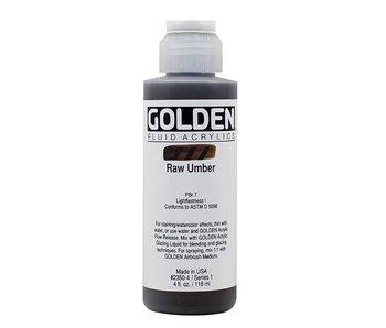 GOLDEN 4OZ FLUID RAW UMBER SERIES 1