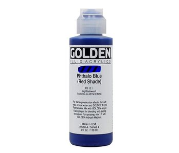 GOLDEN 4OZ FLUID PHTHALO BLUE (RED) SERIES 4